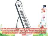 Belkin BSV603vf2M - Regleta de protecci?n contra sobretensiones (6 tomas cable de 2 metros)