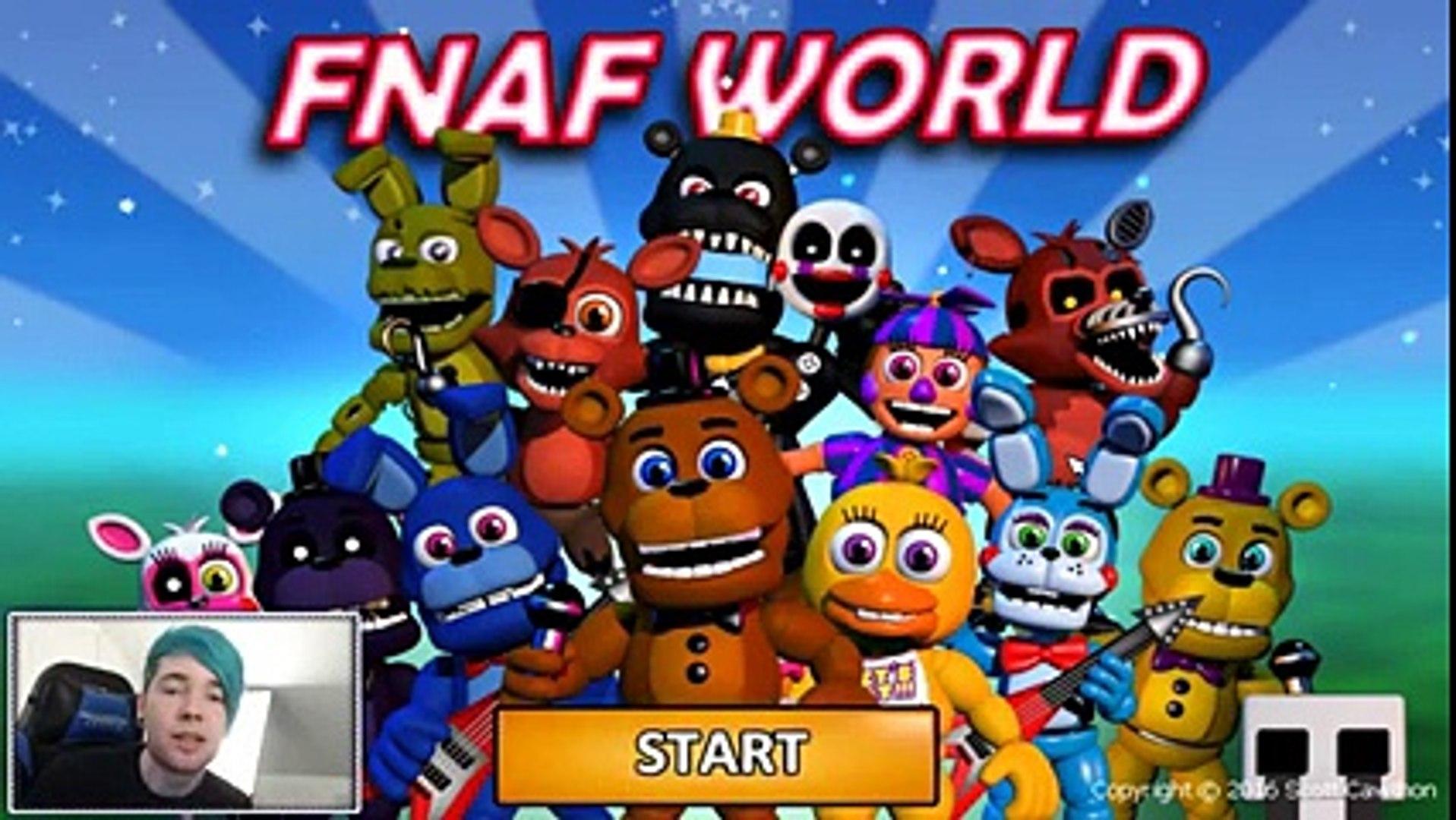 DanTDM FNAF World FIVE NIGHTS AT FREDDY'S CUTE EDITION!!