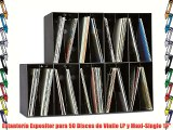 Estanter?a Expositor para 50 Discos de Vinilo LP y Maxi-Single 12