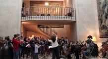 Répétition générale de l'Orchestre des lycées français du monde et du chœur de Marcoussis à Madrid