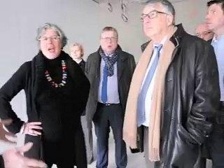 Visite du chantier du futur musée départemental du verre de Sars-Poteries