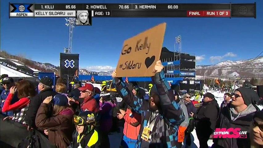 X-Games 2016 - Ski Slopestyle - Kelly Sildaru s'impose à 13 ans !!