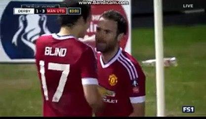 Juan Mata  Goal HD Derby 1-3 Manchester United 29-01-2016