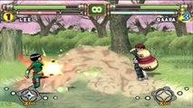 Naruto Ultimate Ninja 2 : Gaara VS Naruto Sasuke Rock Lee - Mi Gaara con CHIDORI SUPER CHETADO !