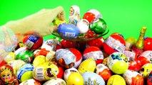 8 Surprise Toy Eggs - Kinder Surprise Nickelodeon Spongebob Spiderman Egg Choco Treasure Mario Kart!