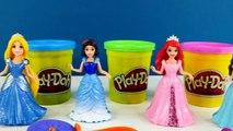 5 Disney Princess Play Doh Magiclip Fashion Dresses Princesses Ariel Tiana Snow White Playdough DCTC