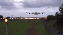 [What a Crosswind Landing!] - Emirates Airlines A380 landing 16R Sydney Airport  Crosswind Landing