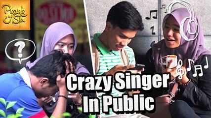 Crazy Singer In Public | Prank Asia