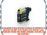 10x Compatible XL tinta cartuchos reemplazo for BROTHER LC-123 BK/C/M/Y con CHIP | 4x LC-123