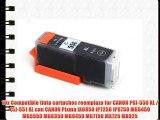 10x Compatible tinta cartuchos reemplazo for CANON PGI-550 XL / CLI-551 XL con CANON Pixma