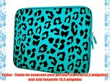 Pedea - Funda de neopreno para port?til (337 cm/133 pulgadas) azul azul leopardo 133 pulgadas