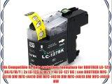 10x Compatible XL tinta cartuchos reemplazo for BROTHER LC-125 BK/C/M/Y | 2x LC-125 C/M/Y