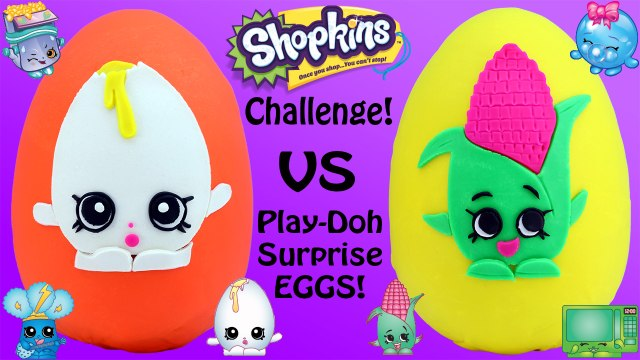SHOPKINS CHALLENGE #7 - Giant Play Doh Surprise Eggs | Shopkins Baskets -  Awesome Toys TV