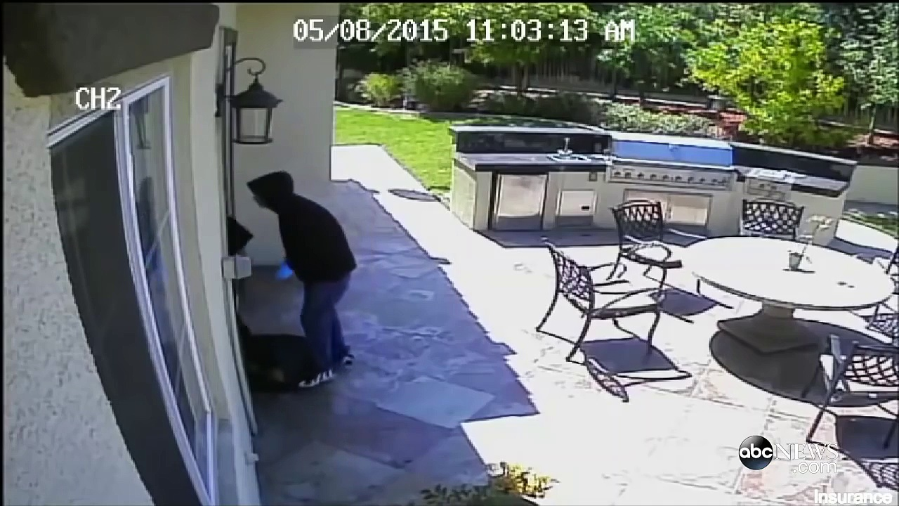 Calif. Home Invasion Video: Security Footage of 2 Men Holding Knives Breaking Into California Home