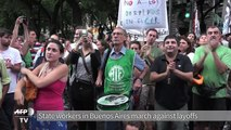State workers in Buenos Aires march against layoffs