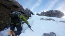 Ascension vers l'arête sommitale de la Dent d'Herens (4171m, Suisse)