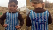 Is this the boy in the Messi bag shirt
