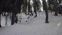 Rando trail neige les gets hiver