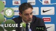 Conférence de presse Tours FC - AC Ajaccio (1-1) : Marco SIMONE (TOURS) - Olivier PANTALONI (ACA) - 2015/2016