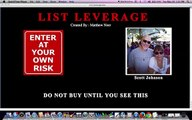 MUST SEE ABOUT List Leverage By  Matthew Neer - List Leverage Review, WARNING!!!