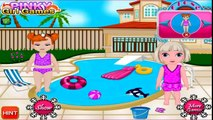 Frozen game Frozen anna elsa Frozens baby swimming pool Videos games for children