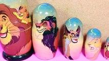 The LION KING Lion Guard GIANT SURPIRSE Nesting Doll Kids Kinder Eggs Russian Dolls Simba Nala