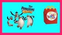 Penguins madagasccar jouets surprise de l'happy meal de macdonalds Mac Donald's Happy meal penguins of madagascar toys pingüinos Pingouins Pingwiny