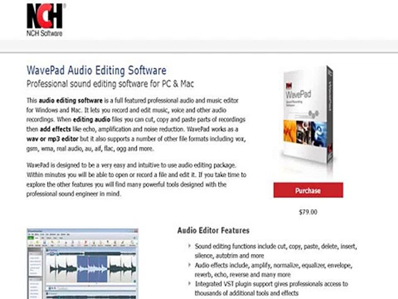 Nch Software Wavepad Audio Editing Software
