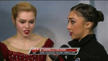 Alaine Chartrand & Gabrielle Daleman - post-interview - 2016 Canadian figure Skating Championships
