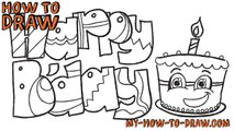 How to Draw A Birthday Cake Birthday Cake Drawing for Kids