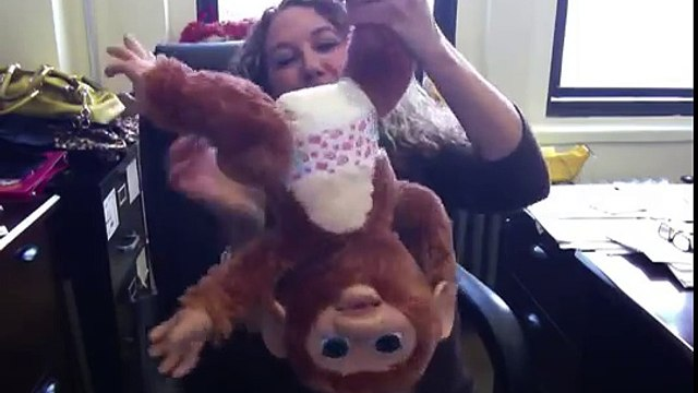 Furreal Friends Cuddles My Giggly Monkey and Toy Insider Mom Laurie Schacht Cuddle Up!