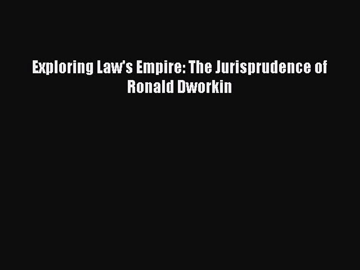The Philosophy of Earth Jurisprudence Exploring Wild Law