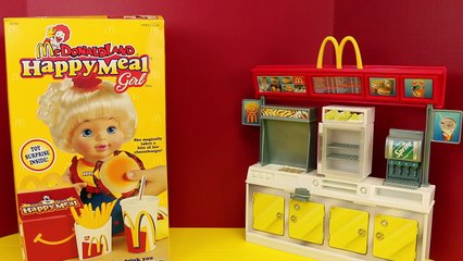McDonalds Happy Meal Girl Doll with a Surprise Toy French Fries Hamburger and Drink