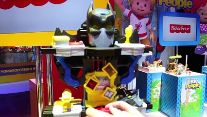 Batman Superhero Toy New 2015 Imaginext Batcave and Robot Dinosaur Toy Review by ToysReviewToys