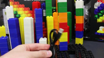 Light Stax Toys with Day and Night Duplo Lego Set Stop Motion Light Show by ToysReviewToys