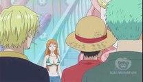 One Piece - Luffy Zoro Sanji got clobbered by Nami