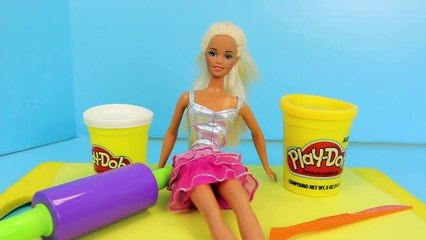 Play Doh #TheDress for Barbie How To Make The Dress out of Playdough by DisneyCarToys