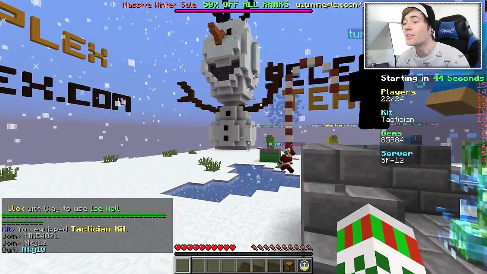Minecraft: SNOWBALL FIGHT (KILL AS MANY AS YOU CAN!) Mini-Game