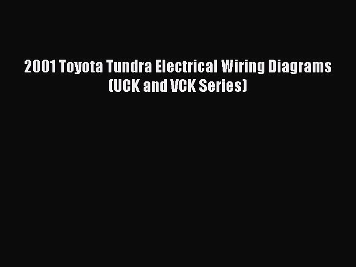 Electrical Wiring Diagram Toyotum Trundra