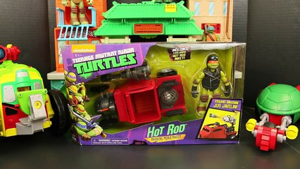 Teenage Mutant Ninja Turtles Hot Rod with TMNT Michelangelo Toy Review by ToysReviewToys