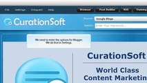 CurationSoft.com - Blogger - Settings and Options