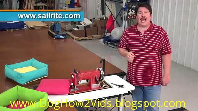 How to Make a Dog Bed |Dog How2 Vids|