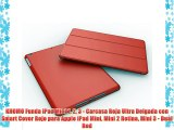 KHOMO Funda iPad Mini 1 2 3 - Carcasa Roja Ultra Delgada con Smart Cover Rojo para Apple iPad