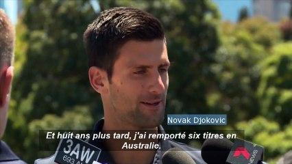 Tennis : après sa victoire à l'Open d'Australie, Djokovic pense au record de Federer
