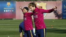 FC Barcelona training session: First training session of the month