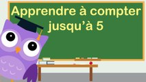 Apprendre à compter jusqu'à 5 avec OLI la chouette / Learn to count to 5 in french with OLI