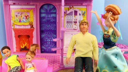 Frozen Anna and Elsa Makeover with Barbie and Kristoff with New Frozen Fever Dolls
