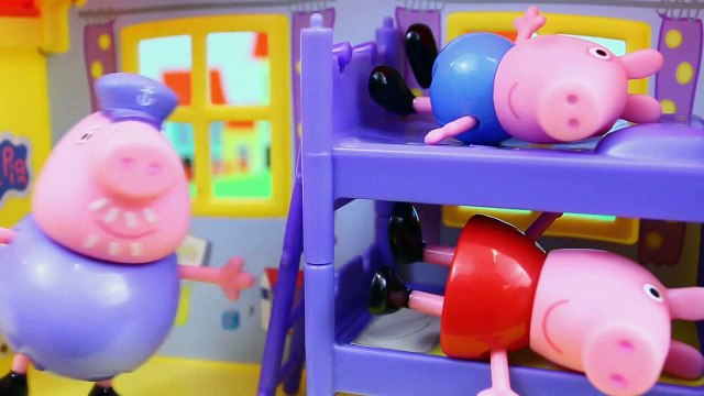 Peppa Pig & George Pig isney Frozen Deluxe Kitchen Toy Surprise Play Doh surprise eggs toy barbie - Pig George e Peppa Pig Play Doh New One Alphabet Abc Song FIGHT Pirate Candy Cat on Pirate Ship Construction Set Peppa Legos Mega Bloks