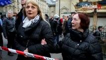 Les Roms du bidonville parisien manifestent