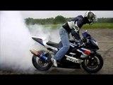 IMPRESIONANTE lo mejor de las motos de jerez por la noche HD Burnout  drift  exhaust  crash
